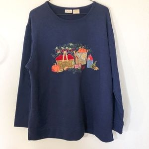 Bobbie Brooks Fall Themed Graphic Sweatshirt